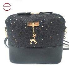 2019 Women Crossbody Shoulder Messenger Bags Luxury Handbags Leather Designer Shell Shape Lady Mini Bag With Deer Toy