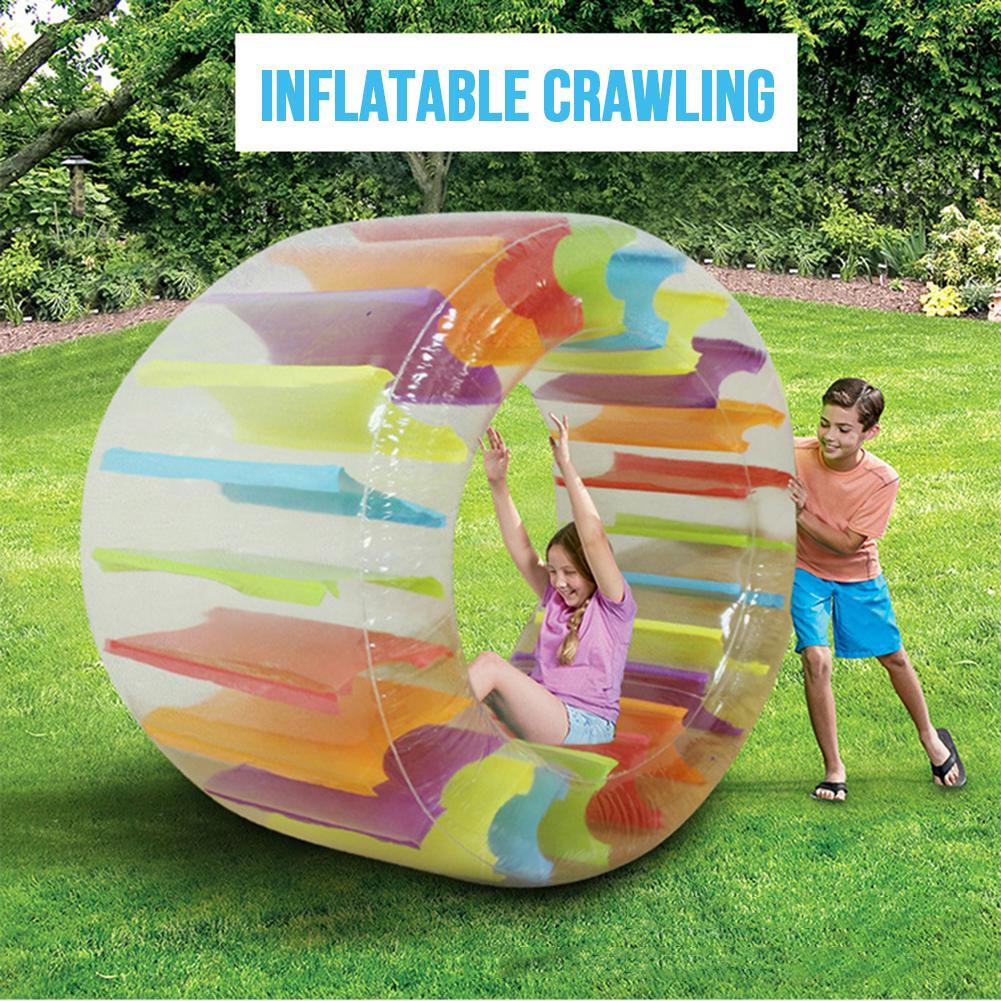 Enfants coloré gonflable roue à eau rouleau flotteur géant rouleau balle pour garçons filles piscine jouets herbe jouet accessoires