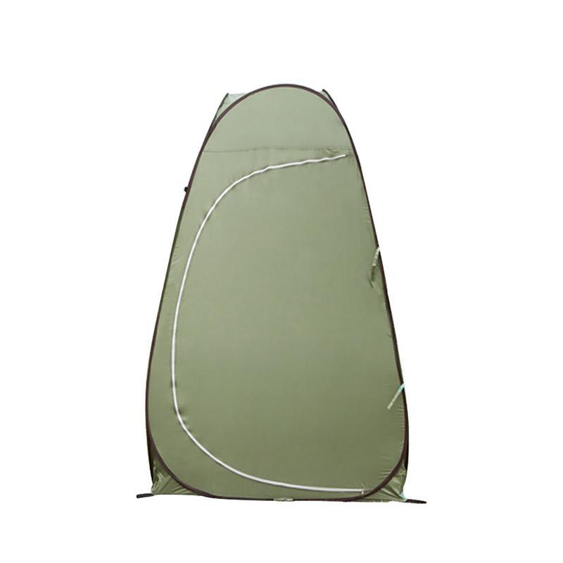 屋外シンプルな自動的にオープンのテント単層シングルドア水着テント携帯頑丈なトイレテントキャンプ施設  グループ上の スポーツ & エンターテイメント からの テント の中 1