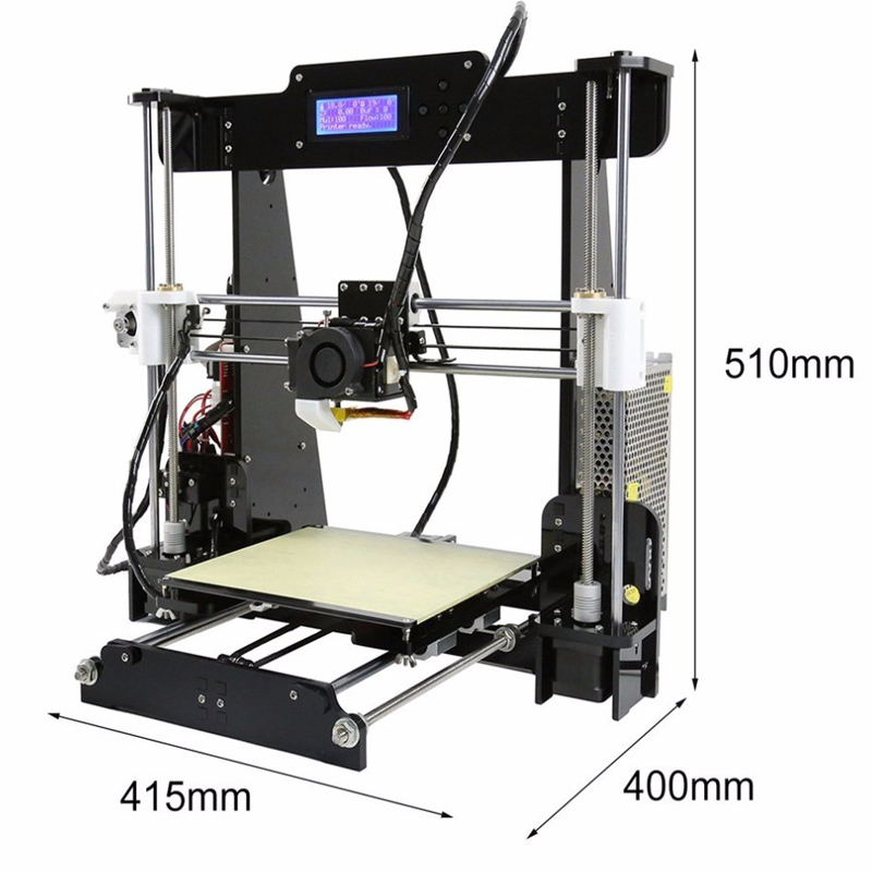 Anet A8 A6 i3 Impresora 3D Printer High Precision Sla 3D printer 0 4 Nozzle With Arcylic Hotbed SD Card Build Tools Filament in 3D Printers from Computer Office