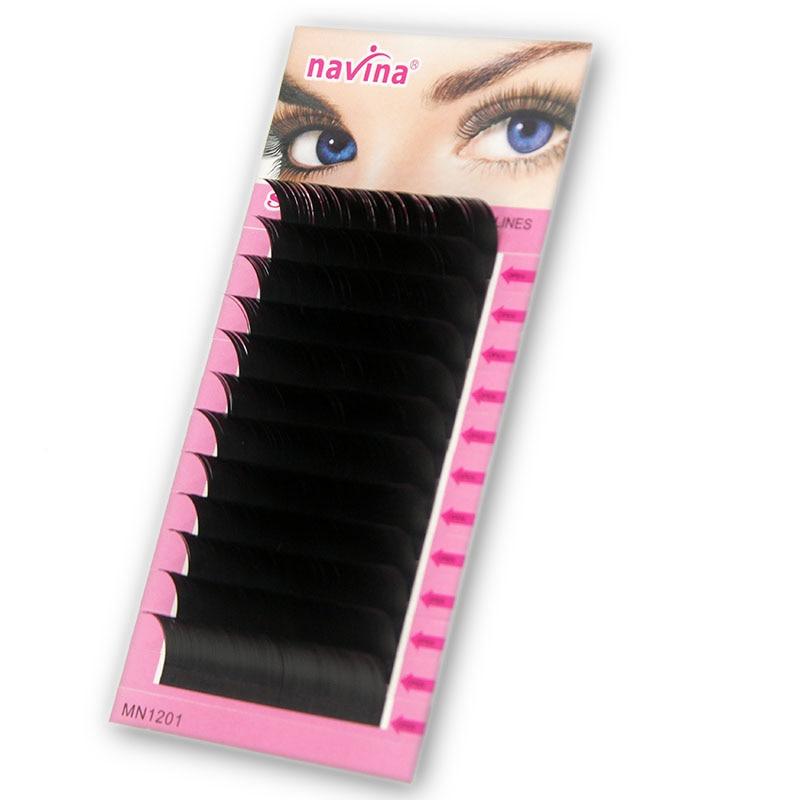 Navina 12Rows Individual Eyelashes Extension Supplies False Professional Mink Eyelashes Extensions Lashes Materials Makeup Cilia