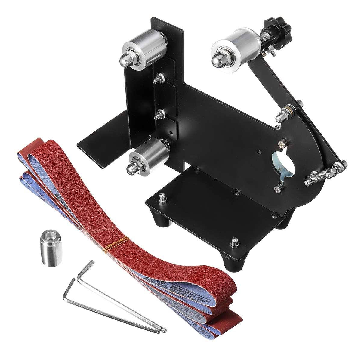 Angle Grinder Sanding Belt Sander Rack 10mm Metal Wood Sanding Adapter Machine Polishing Woodworking Tools Set Attachment