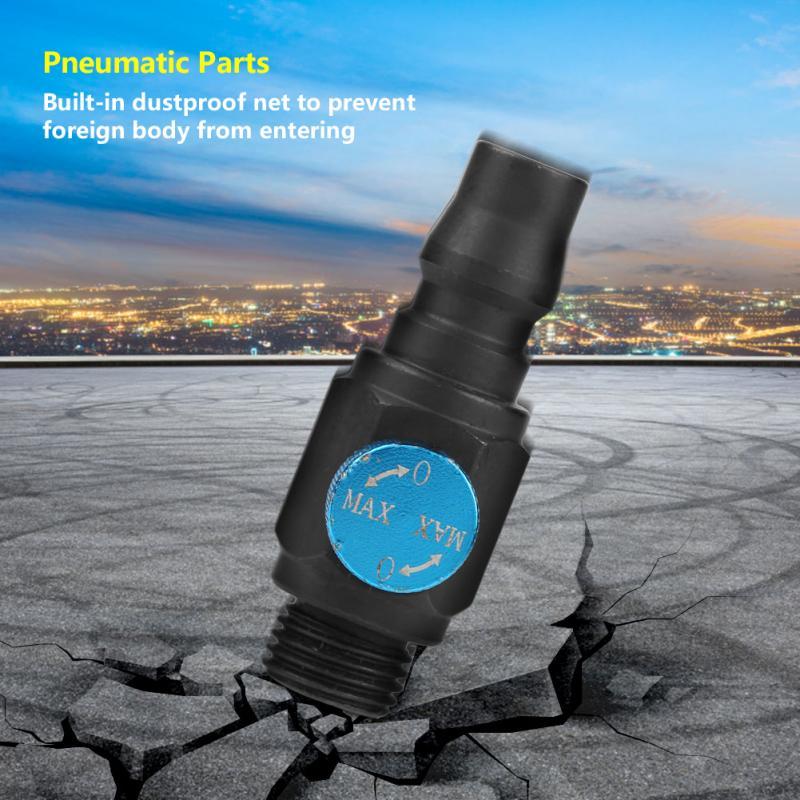Heimwerker Temperamentvoll 1/4 lufteinlass Anschluss Luftstrom Geschwindigkeit Regelventil Pneumatische Armaturen Pneumatische Werkzeug Zubehör Pneumatische Teile Luchtstroom Gute QualitäT Sanitär