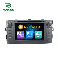 Android 9.0 Core PX6 A72 Ram 4G Rom 64G Car DVD GPS Multimedia Player Car Stereo For Toyota Auris 2008 2012 radio headunit