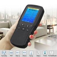 Профессиональный ЖК-дисплей цифровой детектор фольмадегита детектор метр формальдегида тестер качества воздуха Сенсор HCHO TVOC PM2.5 метр анал...