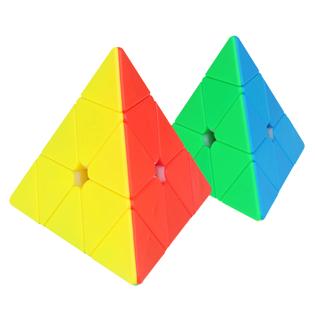 Yuxin Heiqilin Pyramid Magic Cube Puzzle Toy For Brain Training  - Colorful