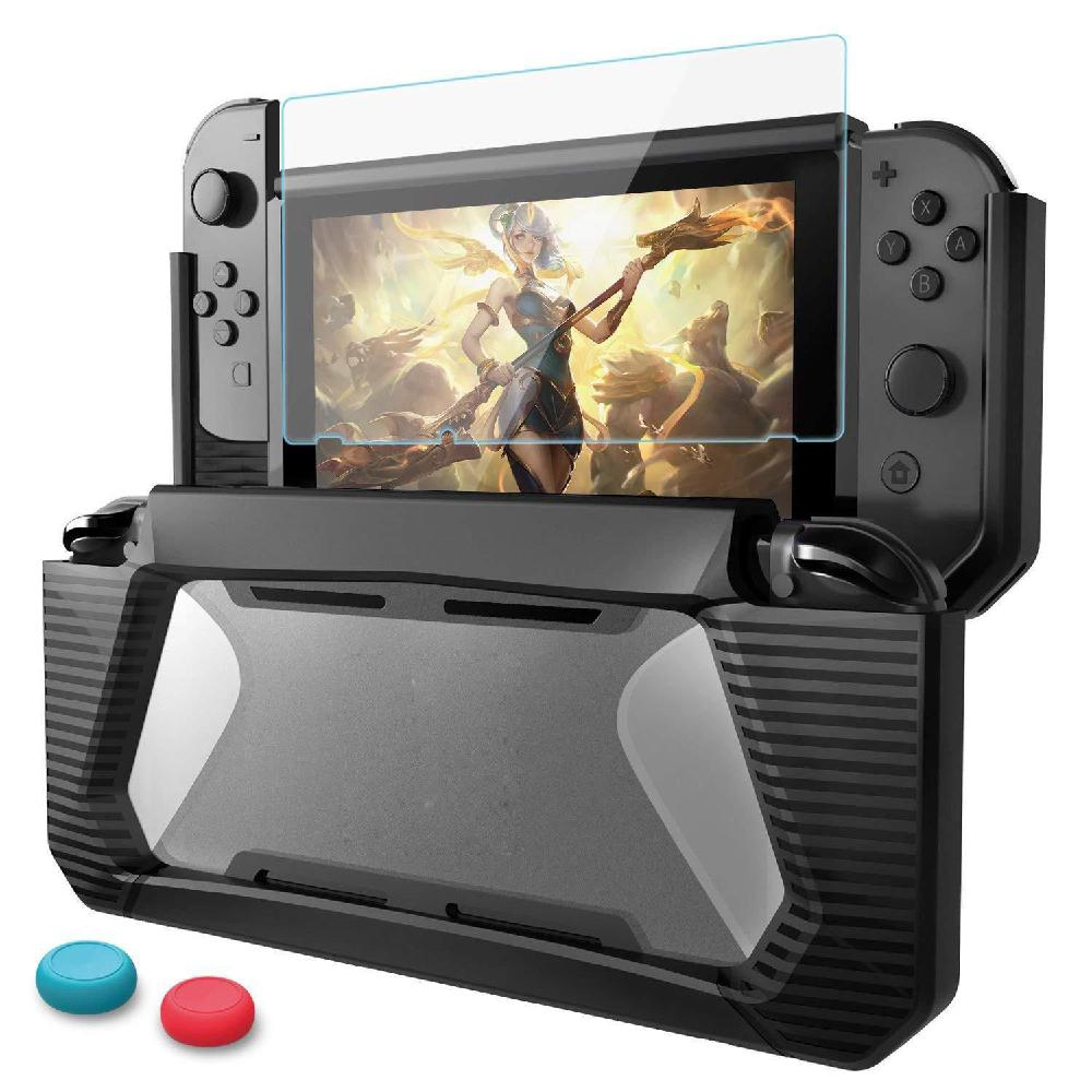 EastVita TPU Protective Grips Cover Case for Nintend Switch NS Console TPU Hybrid Cover Game Accessories