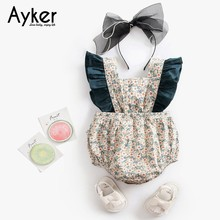 Baby Girl Clothes Summer Flying Sleeveless Newborn Bodysuit Costum Clothing One Piece Jumpsuit Cotton Baby Clothes Outfits 2019