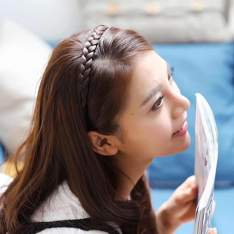 1 шт., новинка, головной убор для девочек, креативная модная женская головная повязка, аксессуары для волос, аксессуары для волос, корейские косички