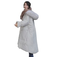 Fashion Thicken Long Plus Size Loose Down Cotton Parka Winter Jacket Women Large Fur Collar Hoodie Female Padded overcoat ls97 цены