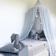 Навес для детской кровати, москитная сетка, занавеска для детской кроватки, сетка для детской кроватки, Круглый висящий купол, детский навес, подвесная игровая палатка, декор детской комнаты