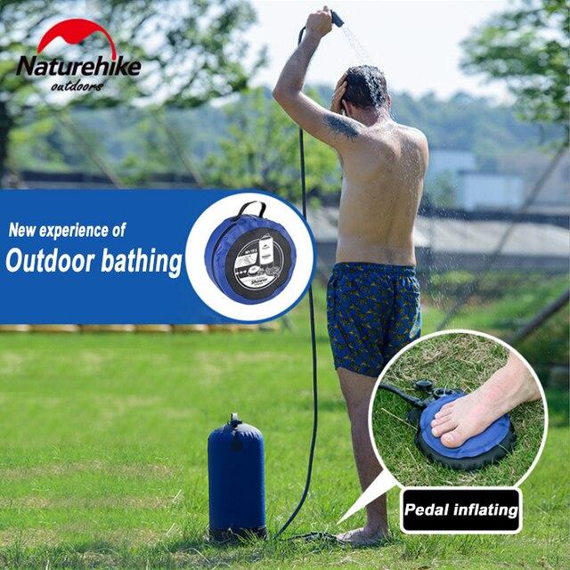 Naturehike 11L Outdoor Baden Wasser Taschen Outdoor Aufblasbare Dusche Druck Duschen Tragbare Camp Dusche Waschen Autos Werkzeuge