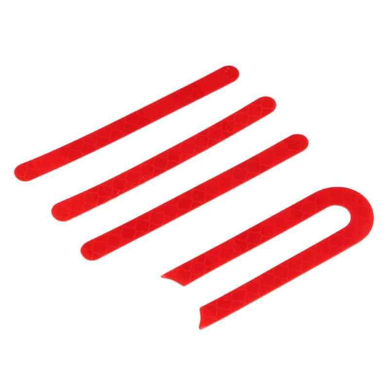 Rosso Anteriore Posteriore Pneumatico Della Ruota di Copertura Guscio Protettivo Adesivo Riflettente Per Xiaomi M365 Accessori Scooter Elettrico