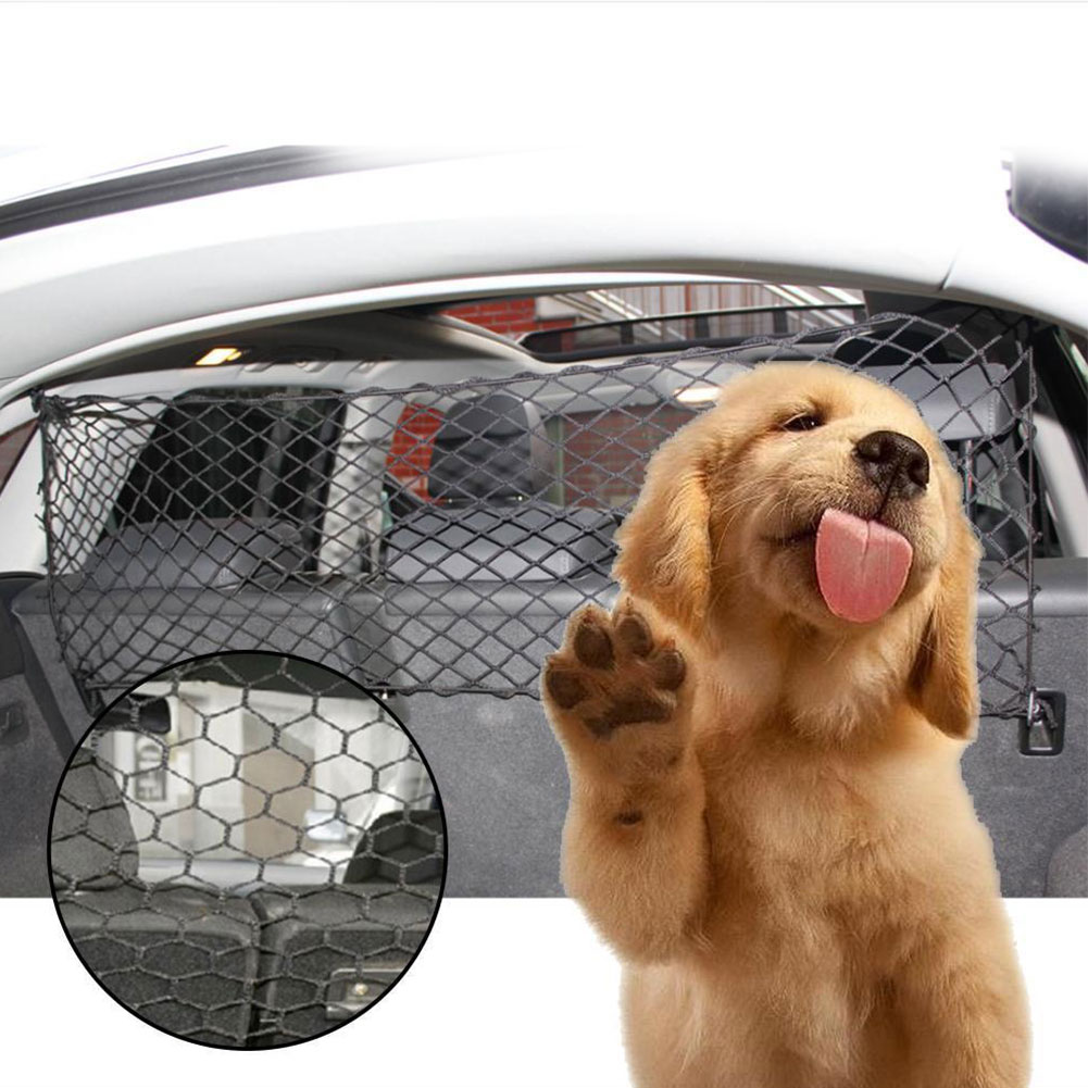 Universal Adjustable Mesh Safety Guard font b Pet b font Dog Trunk Fence Travel Car Barrier