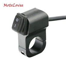 Motolove 12V Waterproof Motorcycle Switch Aluminium Alloy Handlebar Headlight Motorcycles Switches 2 Wires 22mm