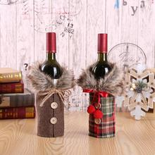 Santa Claus Wine Bottle Cover Christmas Decorations For Home New Year Xmas Decoration