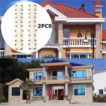 2 Pcs 80*17 cm PVC Kunststoff Zaun Zement Form Römischen Spalte Form Balkon Garten Treppen Geländer Gips Beton form guarden Gebäude