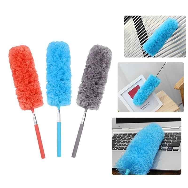 Brosse de dépoussiérage en microfibre douce réglable étendre le plumeau extensible accessoires de nettoyage de ménage de meubles de climatisation