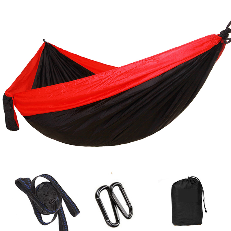 Double portable hammock parachute outdoor camping trip hammock garden chair 1-2 people parachute hammock parachute hammock double muebles exterior