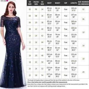 Image 5 - Сексуальное кружевное платье для выпускного вечера длинное красивое ТРАПЕЦИЕВИДНОЕ кружевное вечернее платье элегантные платья для вечеринки EZ07650 Vestido Largo Fiesta 2020