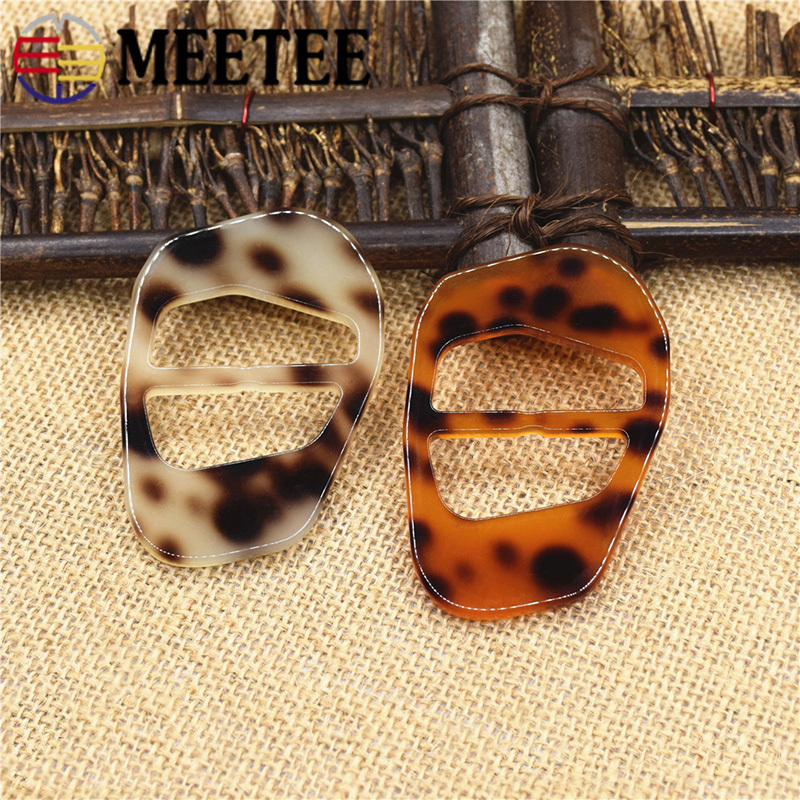 37mm 100% True Meetee 4pcs 2pcs Resin Tri-glide Slider Adjustable Buckle For Bag Coat Webbing Diy Scarf Garment Strap Sewingbf044 Vivid And Great In Style 50mm