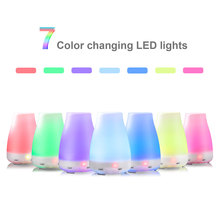 100ml Aroma Essential Oil Diffuser Ultrasonic Air Humidifier with 7 Color Changing LED Lights for Office Home 1508s color changing light 100ml diffuser