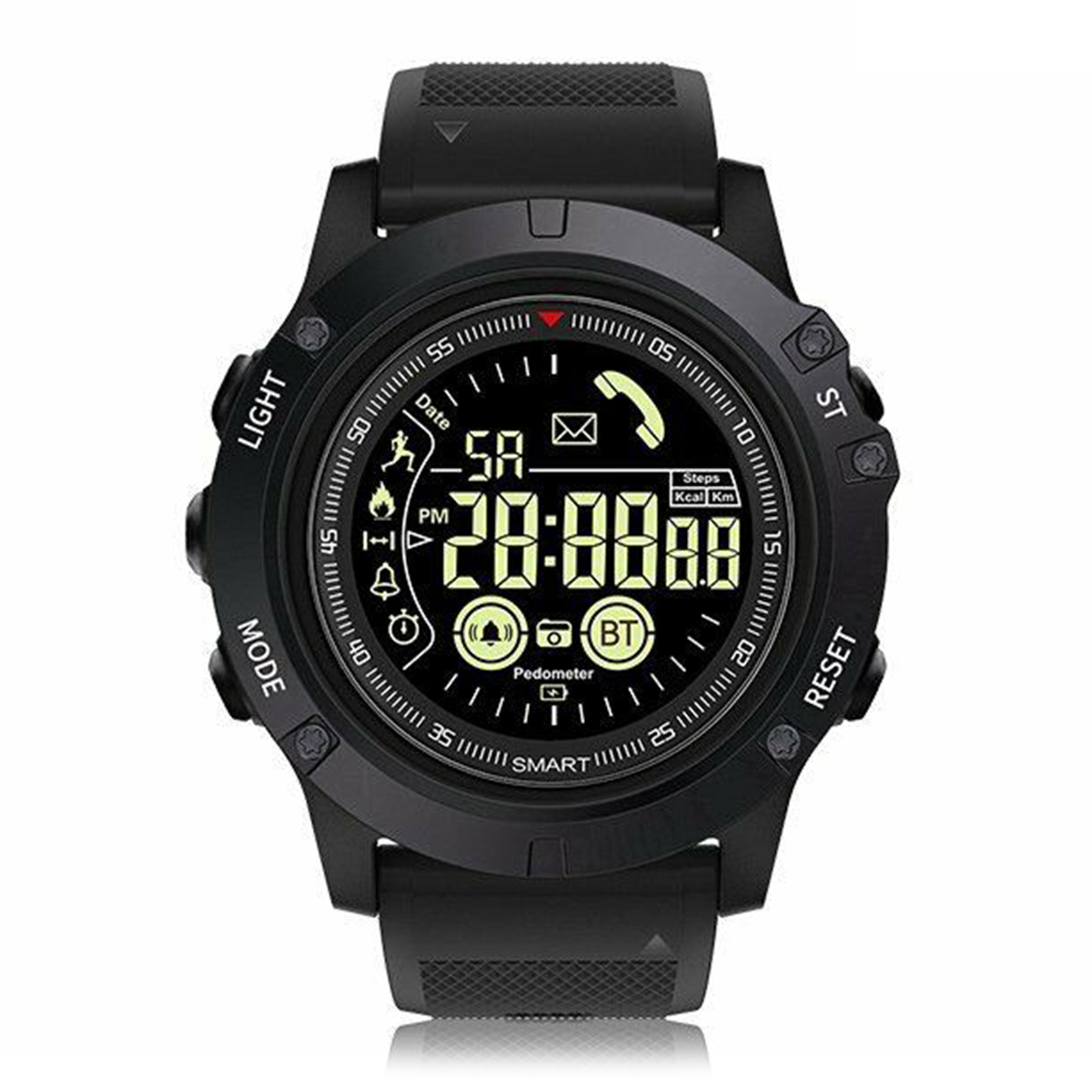 SOONHUA Outdoor Sports Waterproof Bluetooth Long Standby Smart Watch Tactical Military Wristband Pedometer With Luminous DialSOONHUA Outdoor Sports Waterproof Bluetooth Long Standby Smart Watch Tactical Military Wristband Pedometer With Luminous Dial