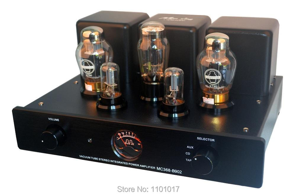 Meixing MingDa MC368 B902 KT90 Tube Amp HIFI EXQUIS Integrated Single Ended Lamp Amplifier with Remote