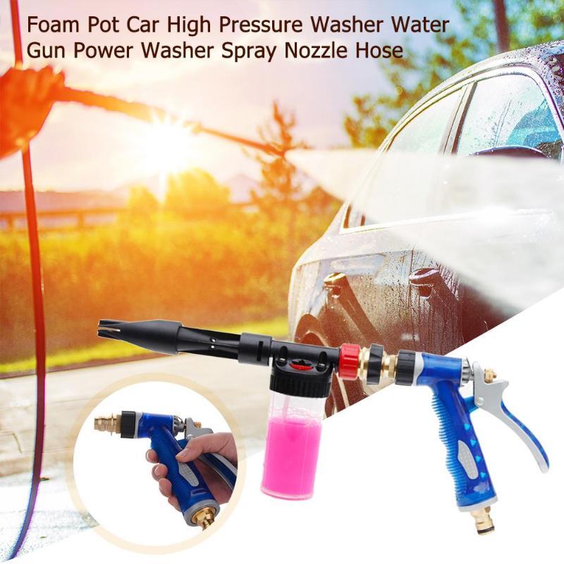 Car High Pressure Washer Foam Pot Water Gun Power Washer Spray Nozzle Hose Watering Spray Sprinkler Cleaning Tool