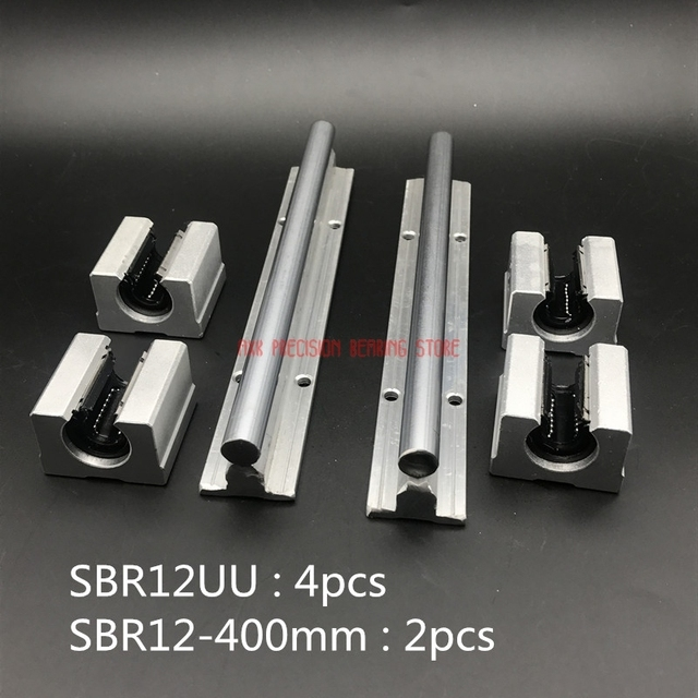 2019 Special Offer Promotion AXK 12mm Linear Rail Sbr12 L 400mm Support Rails 2 Pcs + 4 Sbr12uu Blocks For Cnc For Shaft
