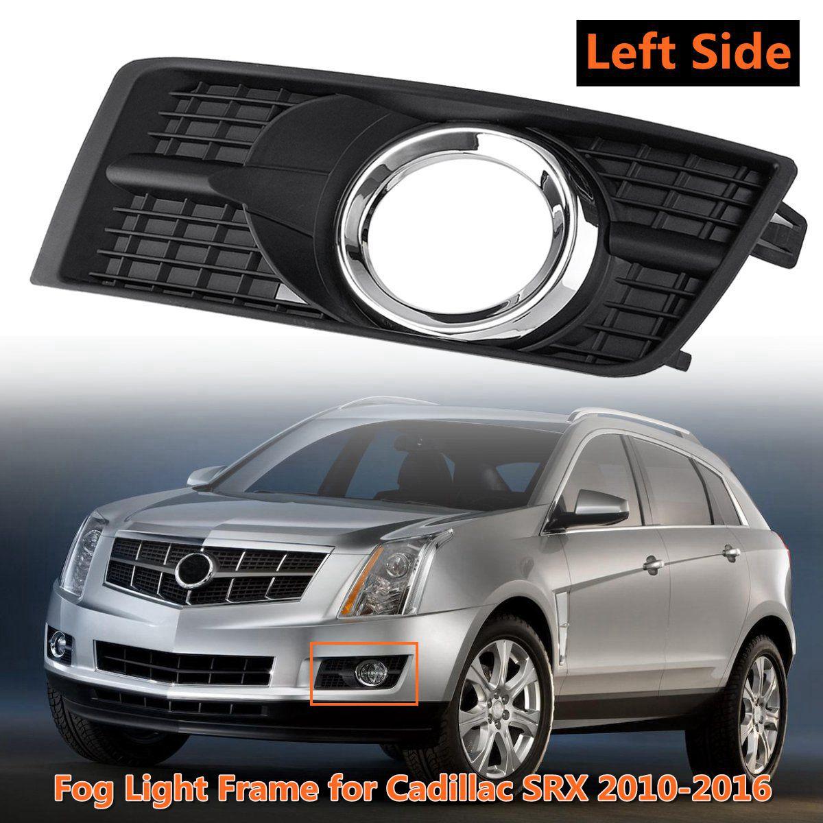 hight resolution of front bumper fog light frame grilling cover foglamp trim shell cap garnish hood for cadillac srx