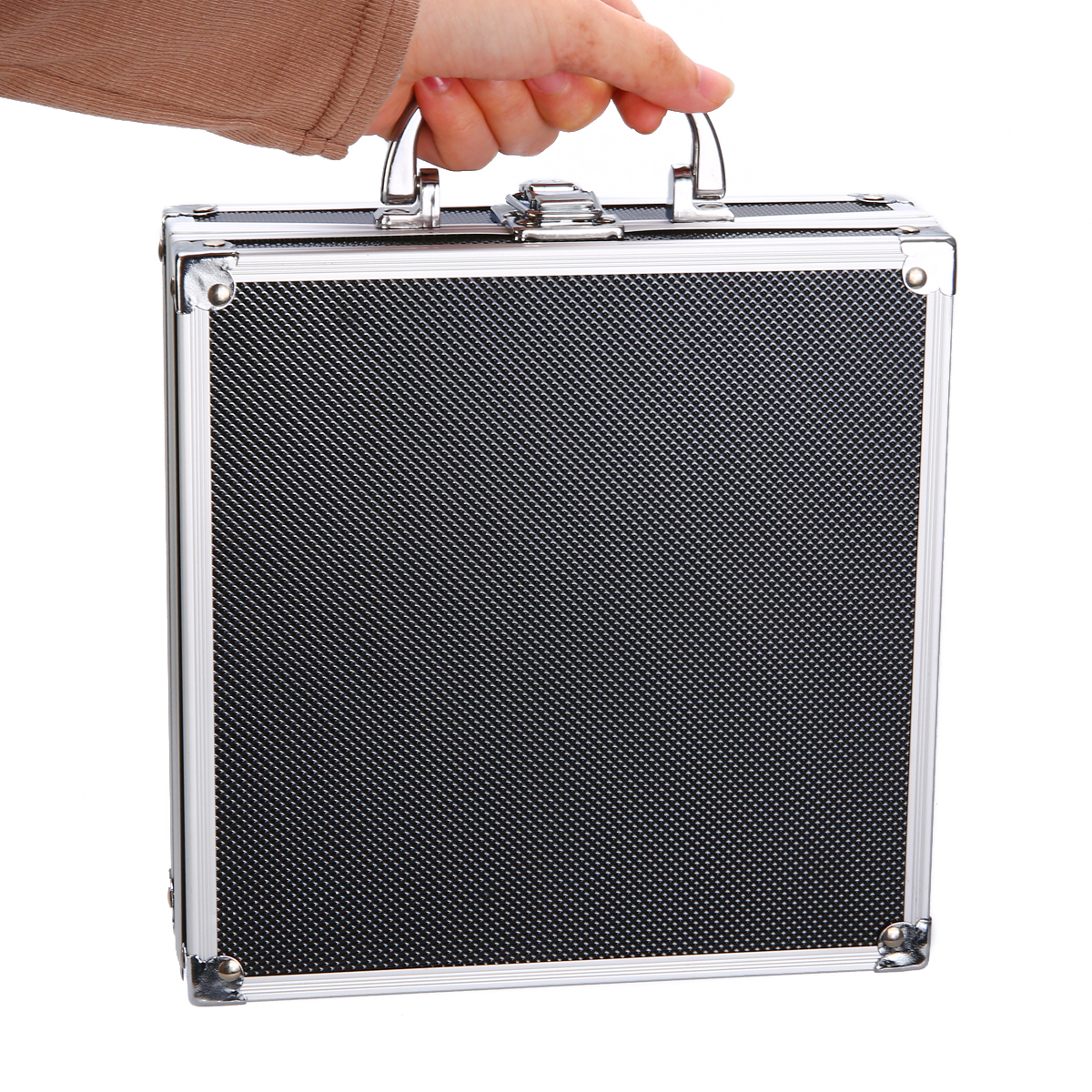 Portable Aluminium Alloy Handheld Box Tool Storage Suitcase Flight Case Organizer +Sponge For Travel Luggage Tool Holder
