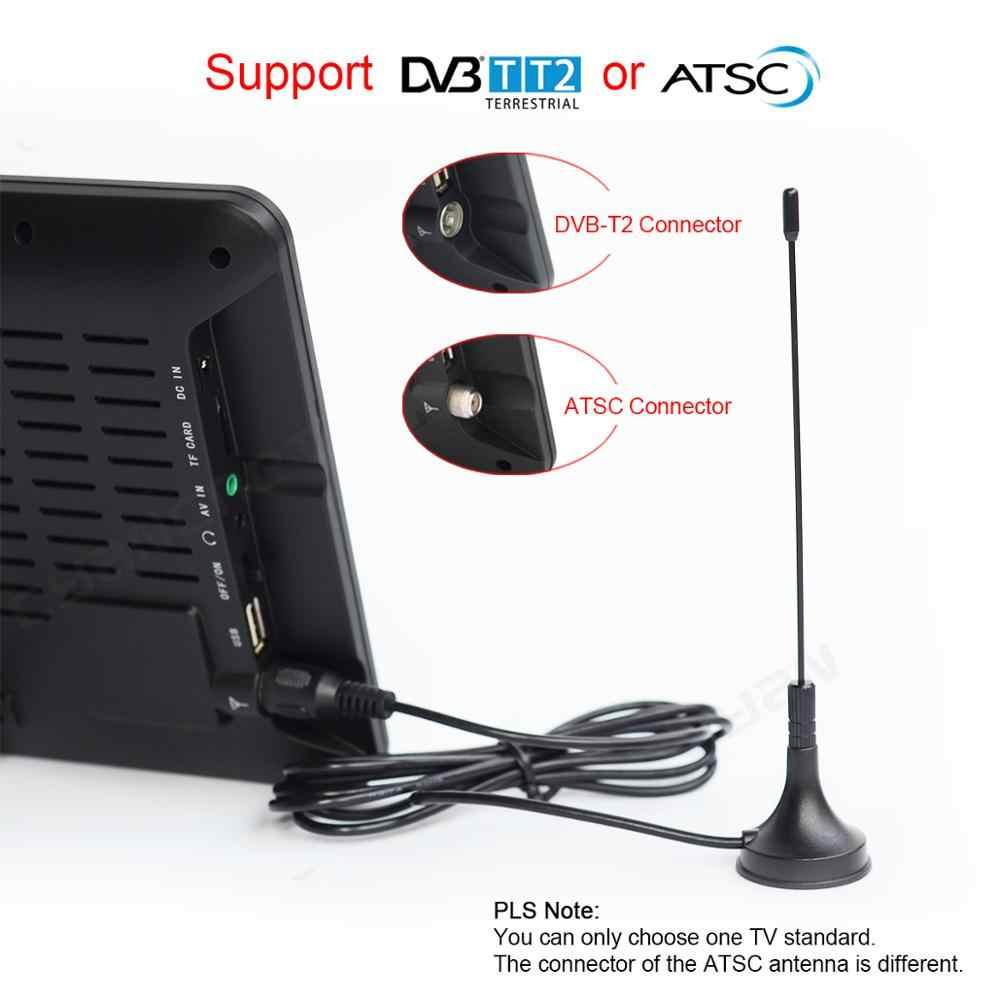 LEADSTAR 9 بوصة تلفزيون محمول DVB-T2 ATSC ISDB-T tdt الرقمية والتناظرية سيارة صغيرة صغيرة التلفزيون دعم USB TF PVR MP4 H.265 AC3