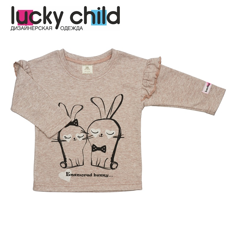 Hoodies & Sweatshirt Lucky Child for girls 56-12b Kids Baby clothing Children clothes Jersey Blouse