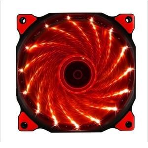 Ультратихий светодиодный охлаждающий вентилятор для ПК 120 мм, радиатор, вентилятор 12 см, 12 В постоянного тока, 3P, IDE 4D(2 провода)