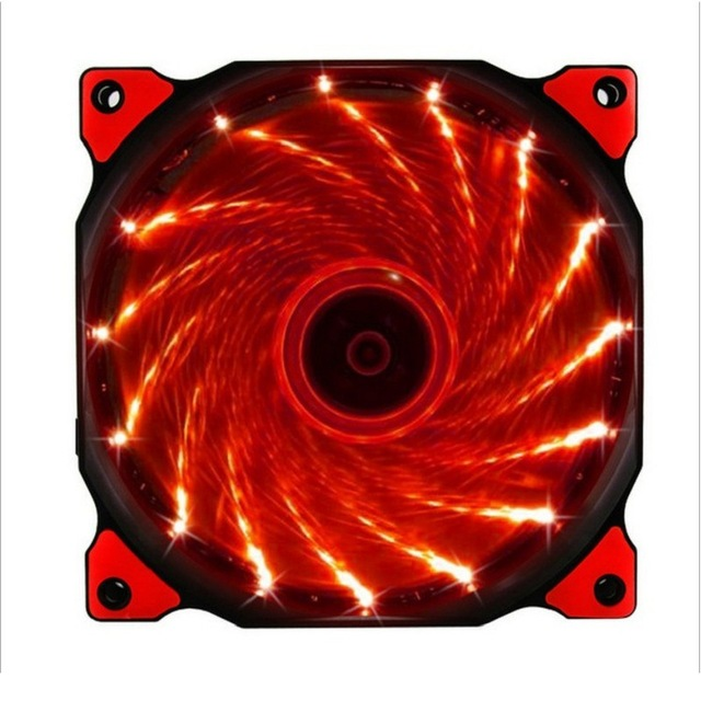 120mm PC máy tính Siêu Im Lặng DẪN quạt làm mát tản nhiệt tản nhiệt, 12 CM quạt, 12VDC 3 P IDE 4pin