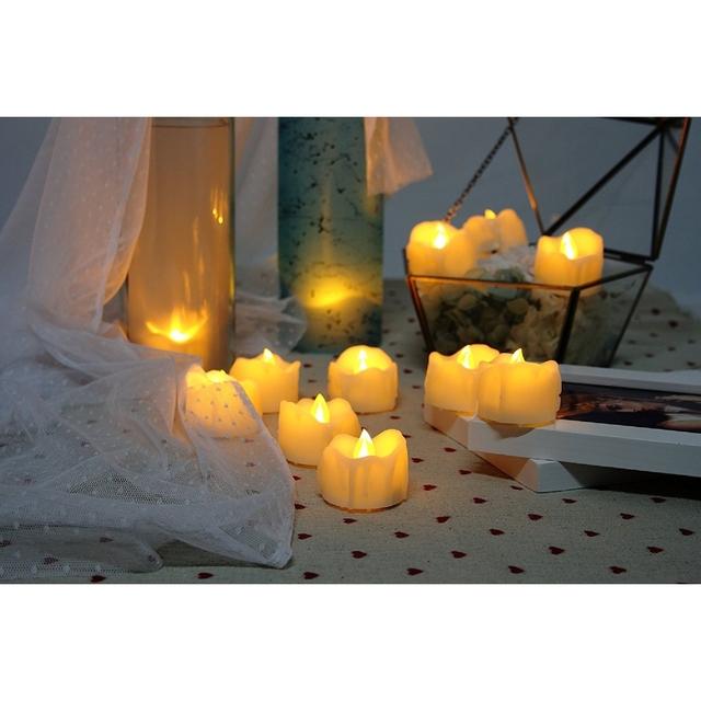 24 PCS Flameless Candles, Battery-operated Votive Tealights, LED Tea Lights, Long Battery Life 120+ Hours, 1.5″(D)1.5″(H), Wa…