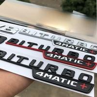 2pcs V8 BITURBO 4matic+ Car Fender Emblem Sticker For Mercedes Benz AMG W117 Cla45 W205 C63 W212 E63 W207 W176 A45 X156 Gla45