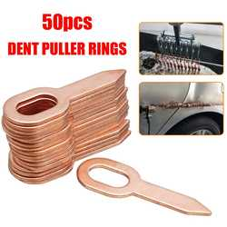 50 pçs banhado a cobre oval dent extrator anéis corpo do carro paintless dent lifter ferramenta de reparo kit extrator remoção dent washer ferramenta