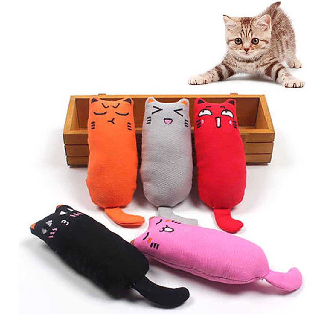 Jouet chat en peluche broyage chat   Jouet drôle, animal en peluche, chaton à mâcher, griffes pouce, morsure chat menthe pour chats, jouets dents