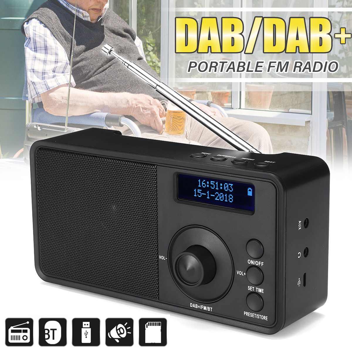 Récepteur de Radio Portable numérique DAB + FM récepteur de Radio bluetooth Mini Radio stéréo haut-parleur lecteur de musique LCD réveil AUX