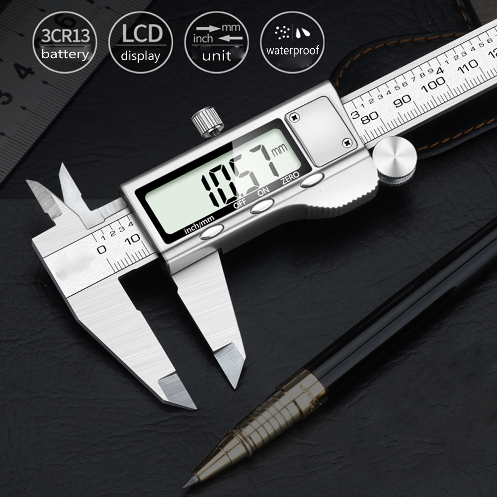 Digital Vernier Caliper Professional Measurement Tool Stainless Steel Electronic Digital Caliper Micrometer LCD Work Waterproof