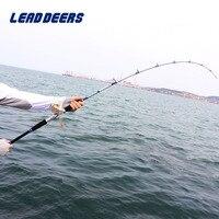 Leaddeers Full Fuji Parts Jigging Rod Solid Glass Tail Jig Rod Ocean Fishing Boat Rod Trolling Fishing Rod 1.6m 1.7m 1.9m