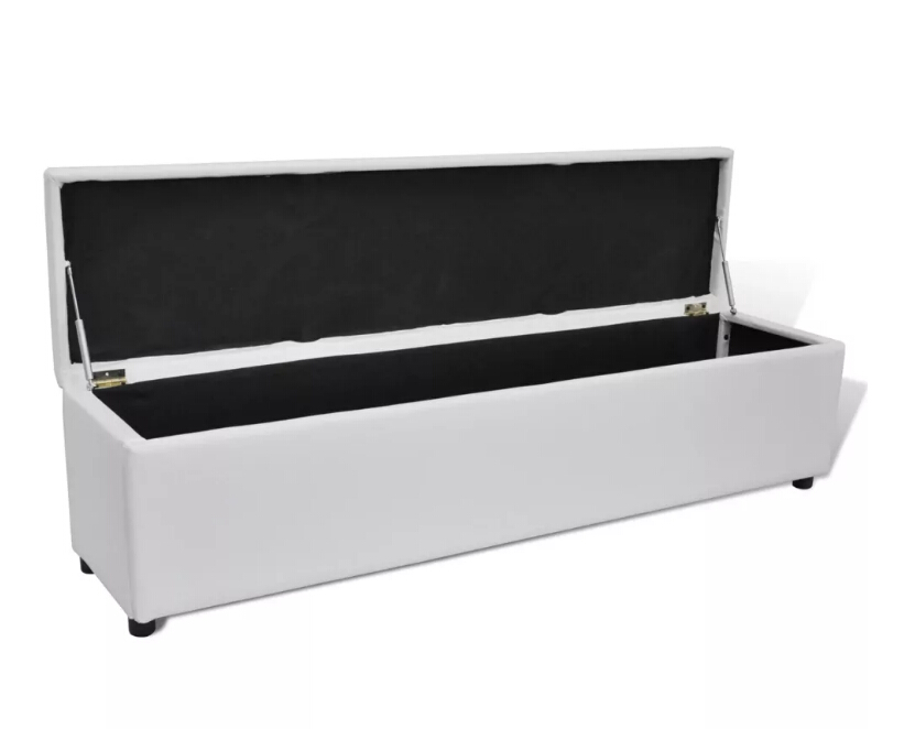 Enjoyable Vidaxl Multifunctional White Padded Upholstered Bench With Caraccident5 Cool Chair Designs And Ideas Caraccident5Info