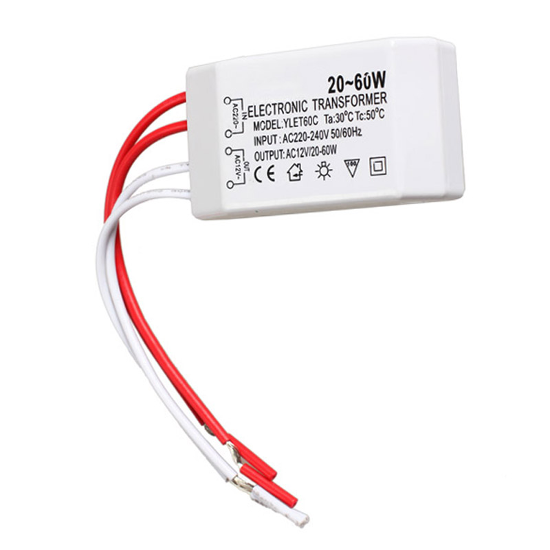 New 20-60W 12V Halogen LED Lamp Electronic Transformer Spotlight Adapter  WXV Sale