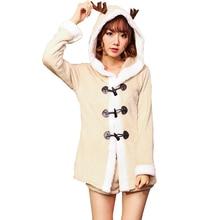 Купить с кэшбэком Christmas Reindeer Costume Cosplay Women Adult Christmas Pajamas Sleepwear Cosplay Clothing