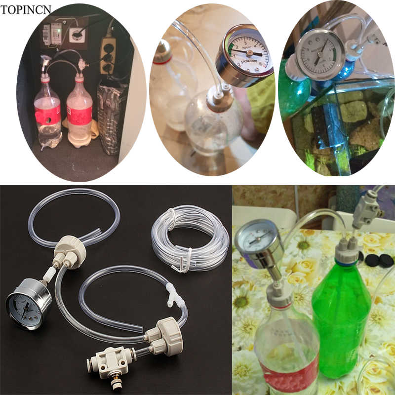 Aquarium CO2 Klep Diffuser Aquarium CO2 Generator Systeem DIY Kit Met Druk Luchtstroom Aanpassing