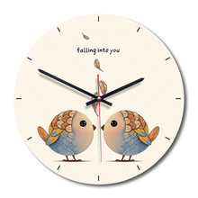 New 3D Wall Clock Acrylic Two Little Bird Modern Design 28cm Quartz Watch For Home Decoration Can Dropshipping
