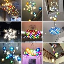 Colorful Glass Ball Lamp G4 LED Pendant Lights Living Room Restaurant Home Deco Bar Coffee Design Lighting Fixtures