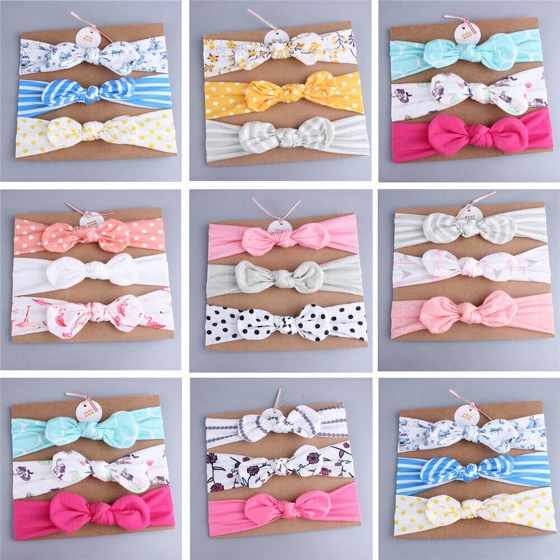PUDCOCO Fashion Baby Kids Girl Infant Flower Bow Hairband Sweet Turban Knot Rabbit Headband Headwear